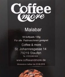 Malabar Kaffee Pads India monsooned Arabica Espresso Staufen